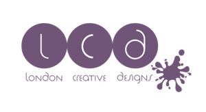 London Creative Designs Logo Purple on White - Top Company Branding Agency in London