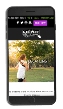 Keep Fit Bootcamp Responsive Website Design (Mobile) by London Creative Designs - London Website Design Company
