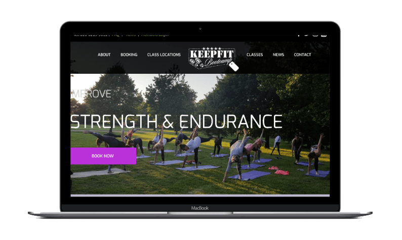 Keep Fit Bootcamp Responsive Website Design (Desktop) by London Creative Designs - London Website Design Company