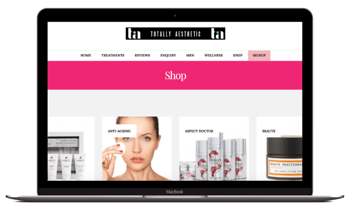 Ecommerce website design for Totally Aesthetic Magazine. Ecommerce website design by London Creative Designs - ecommerce website design agency in London