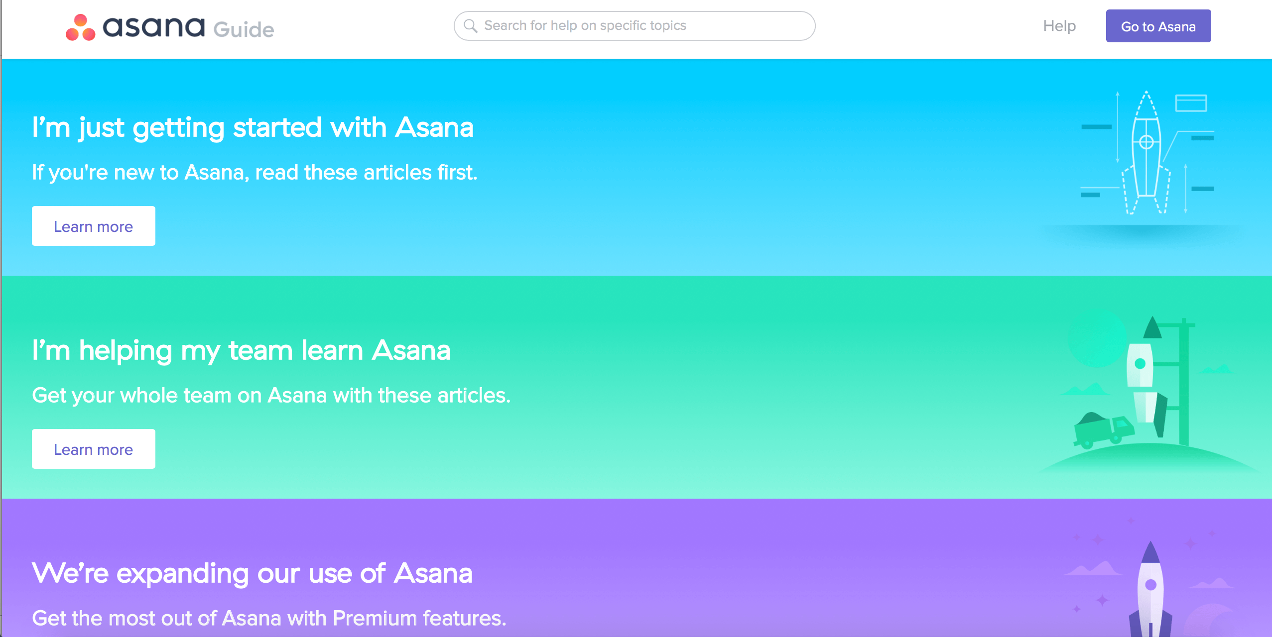 Asana Website - Example of Bright Design Trend 2018