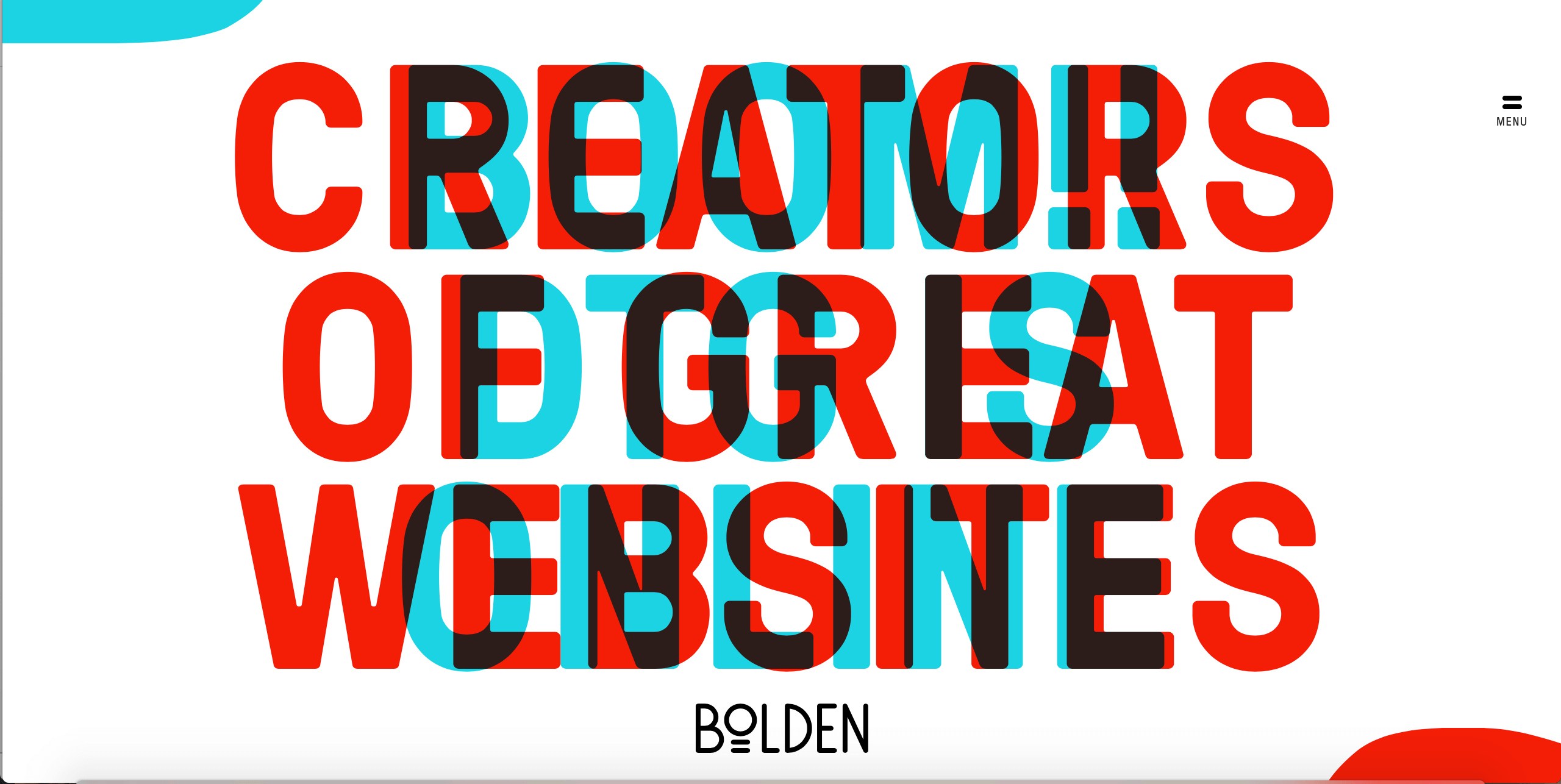 Bolden Website - Example of Bright Website Design Trend 2018