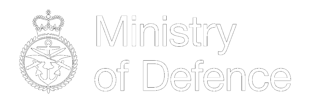 Ministry of Defence Logo - White, London Creative Designs