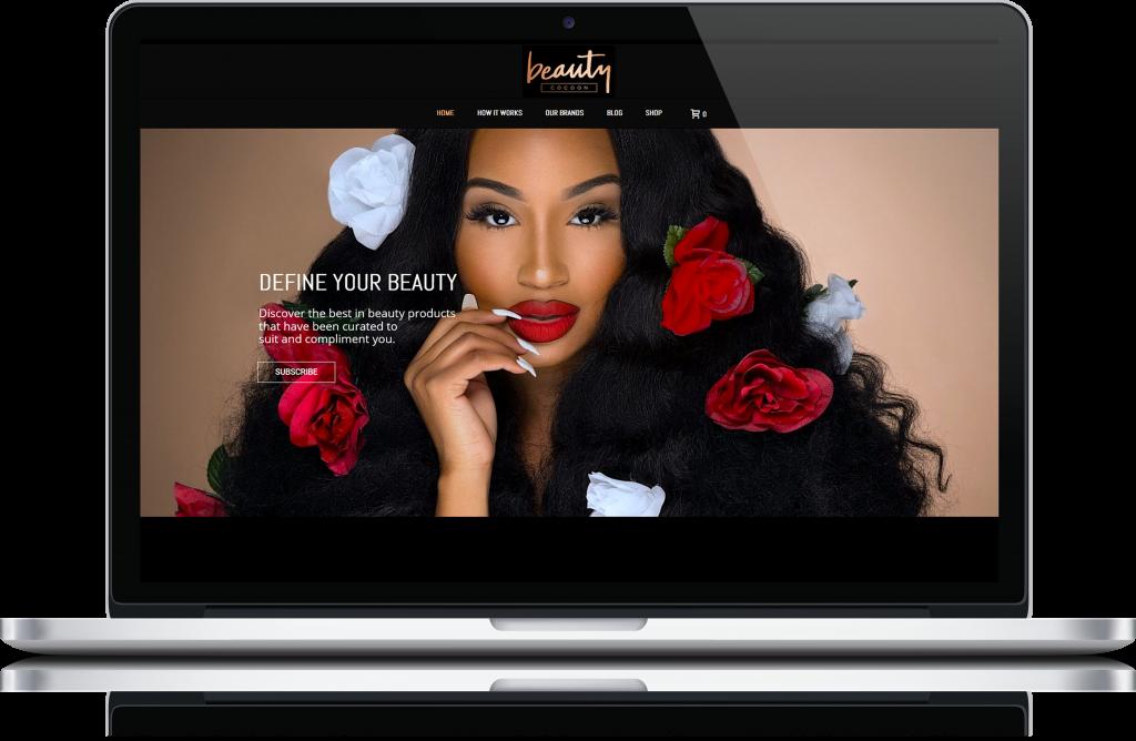 Beauty Cocoon ecommerce website design by London Creative Designs, digital agency London