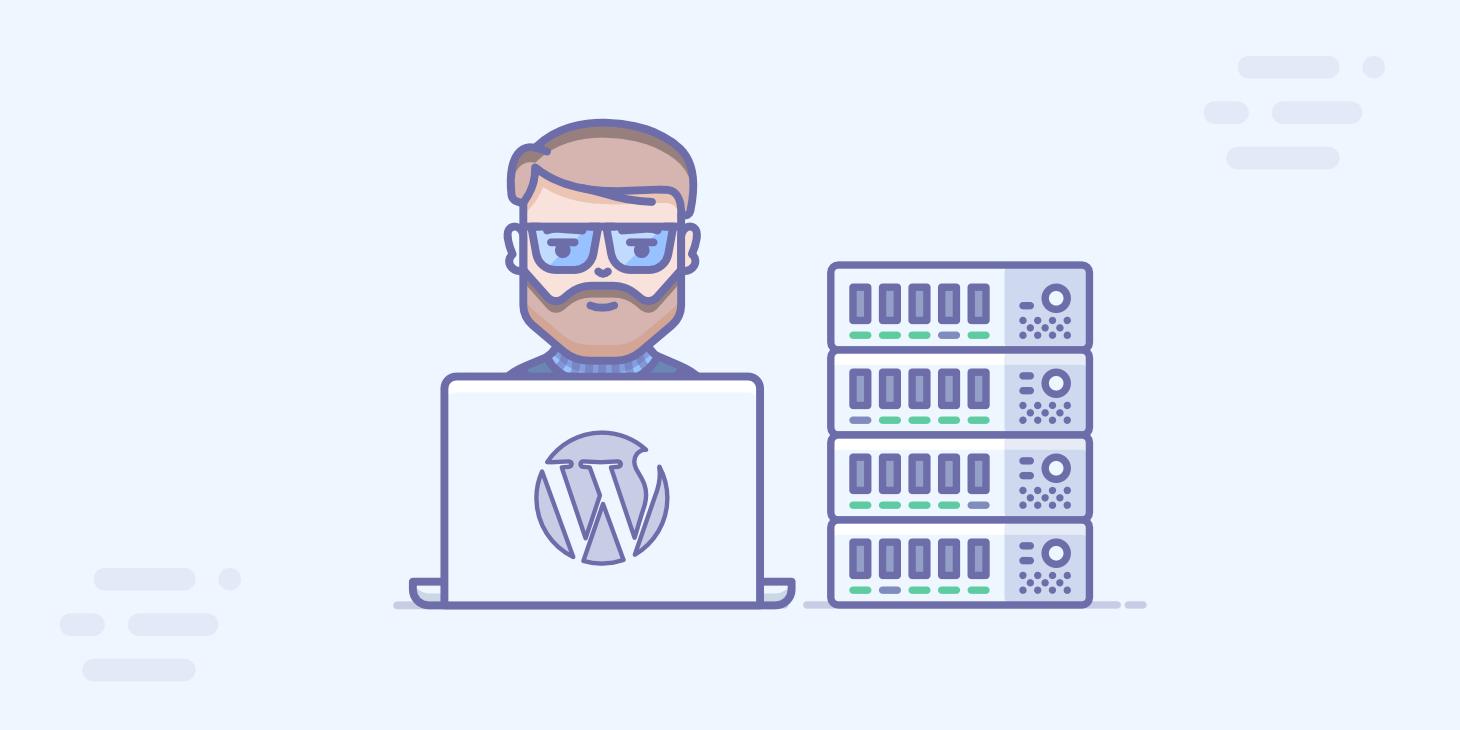 Managed WordPress hosting graphic by London Creative Designs, digital agency London