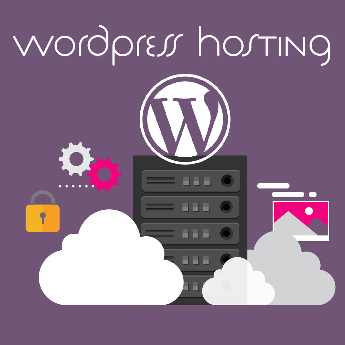 WordPress hosting graphic designed by London Creative Designs - Wordpress agency London