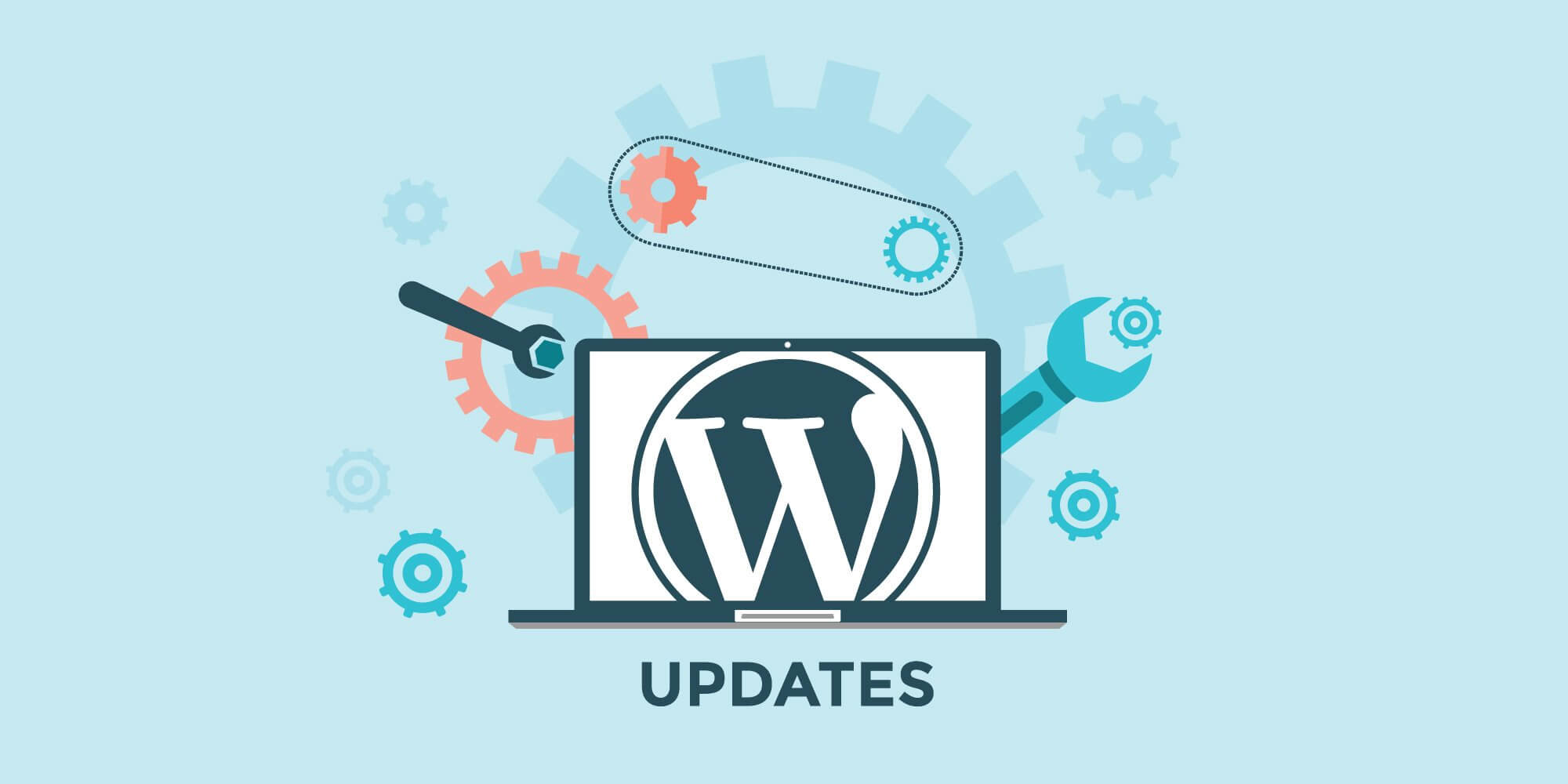 WordPress Updates graphic by London Creative Designs, digital agency London