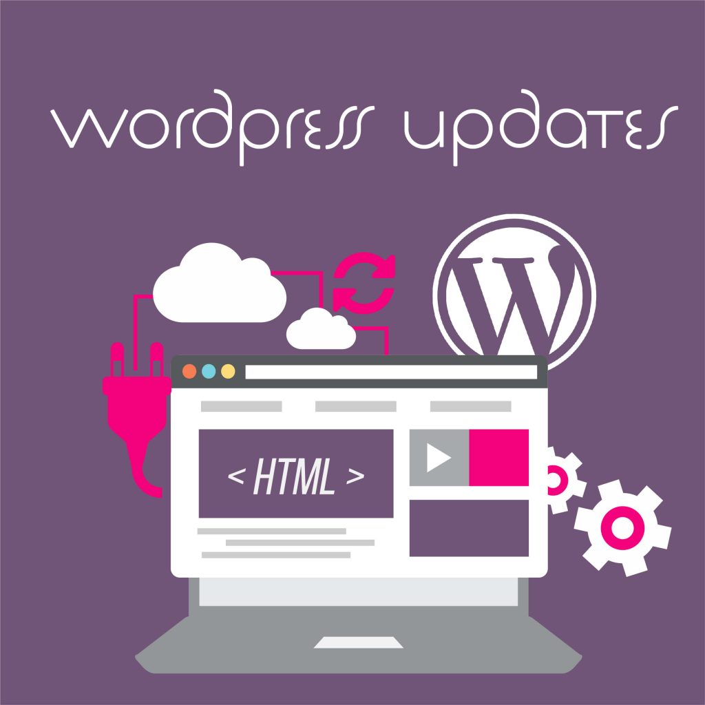 WordPress updates graphic designed by London Creative Designs - wordpress agency London